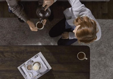 Coffee serving woman | Flooring 101