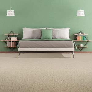 Green colorwall of bedroom | Flooring 101