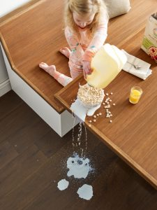 Milk spill on floor | Flooring 101