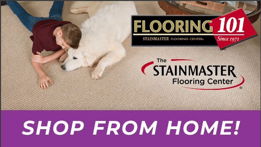 shop from home stainmaster flooring thumbnail with boy and dog | Flooring 101