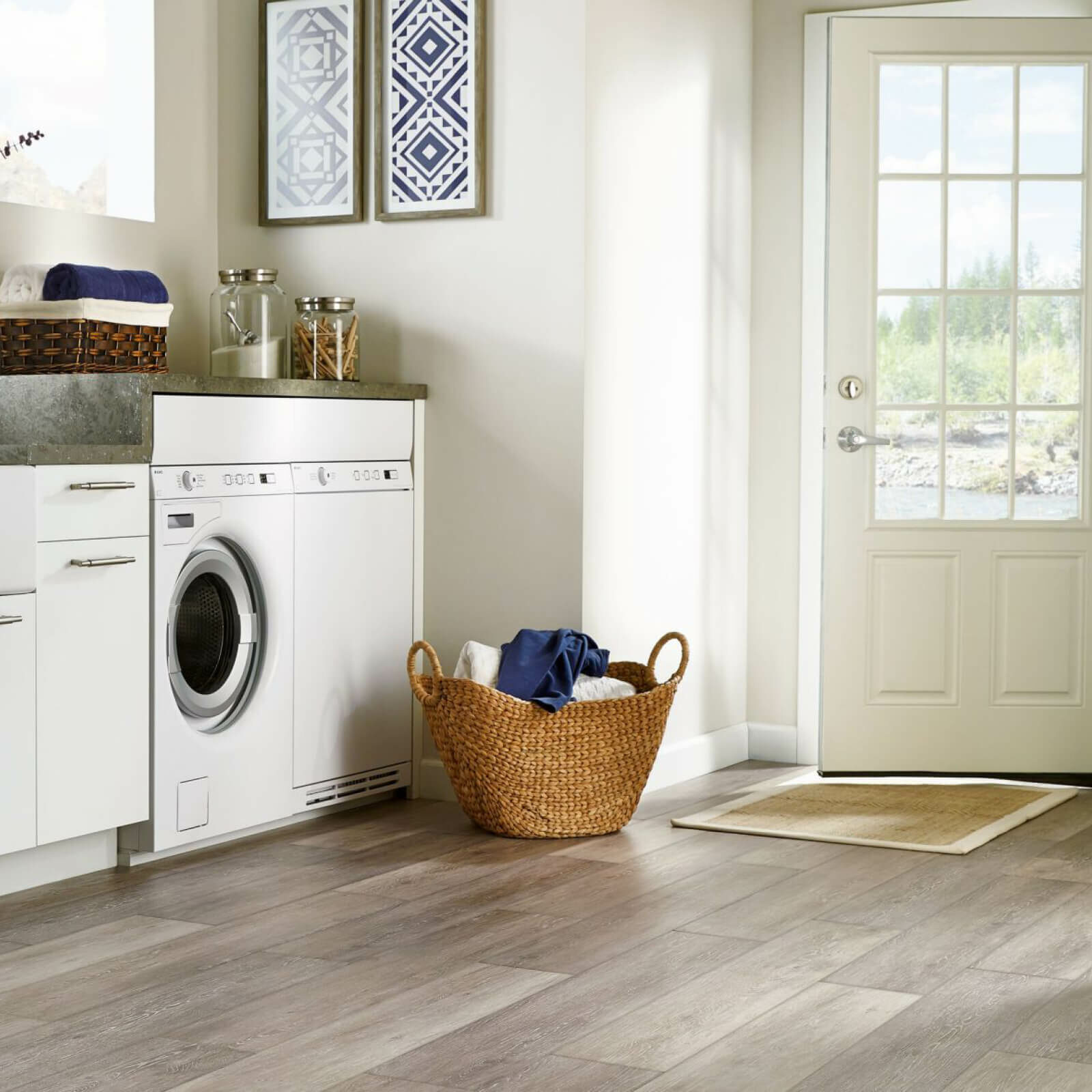 Tile in a laundry room   Flooring 101