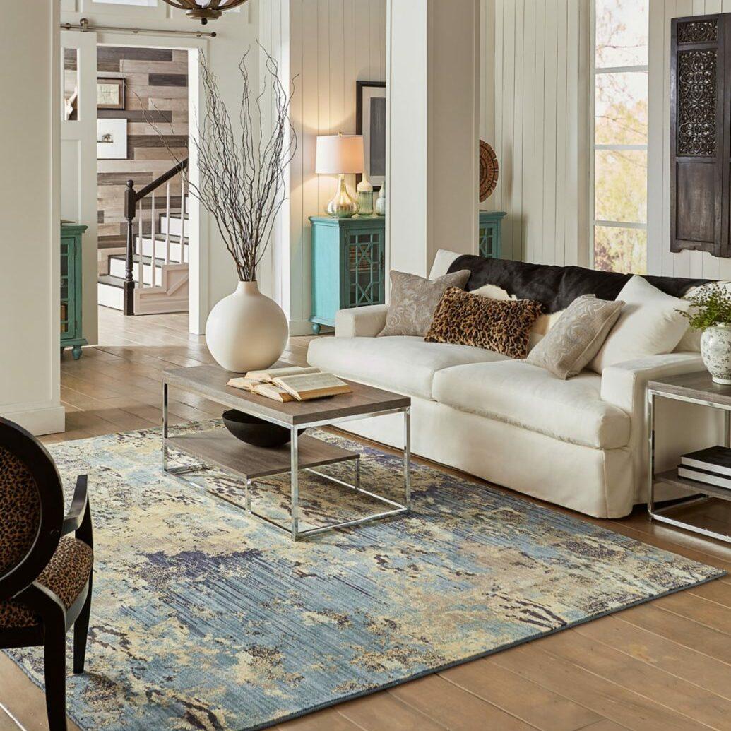Area Rug in open living room | Flooring 101